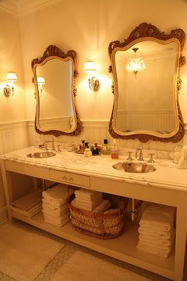 Converting Dresser to Bathroom Vanity   ... Rethink the Sink: New Ways of Turning Old Pieces into Bathroom Prizes