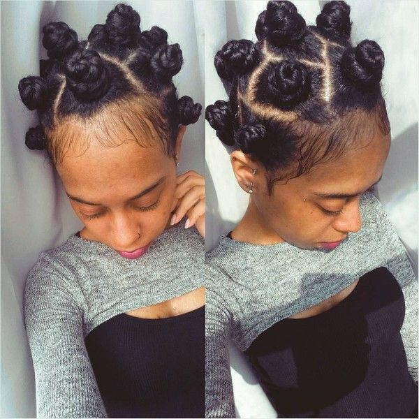 "naomi ? on Instagram: ""Did me some bantu knots n boy are they not fun... ❤ liked on Polyvore featuring hair"