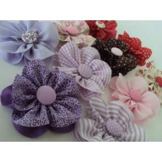 flor de tecidos diversos