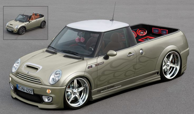 Heavily modified to have a pick up body, large chrome wheels and sound ...