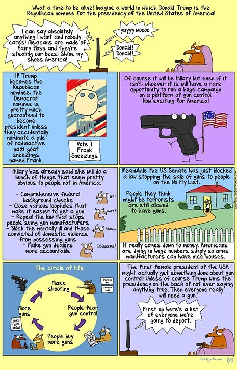 First Dog cartoon on gun control in response to San Bernardino mass shooting.