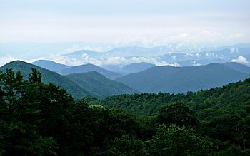 Blue Ridge Mountains ~The Blue Ridge Mountains as seen from the Blue Ridge Parkway near Mount Mitchell