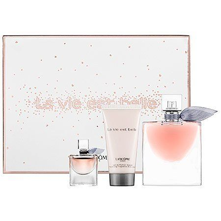 Lancôme La vie est belle Gift Set by Lancôme. $78.00. La vie est belle or life is beautiful—the expression of a new era. It represents a choice; the choice to break free from convention, the choice to create your own path to happiness. La vie est belle introduces a new olfactive story, the first ever iris gourmand. The juice is made with the most precious natural ingredients, a modern interpretation of an oriental fragrance with a twist of gourmand. It entw...