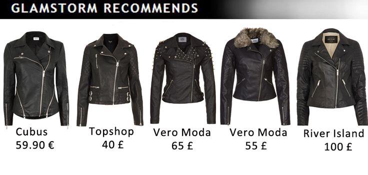 Black leather jacket - always fashionable. Which one you choose?  /Czarne skórzane kurtki - zawsze modne. Którą wybieracie?   http://glamstorm.com/en