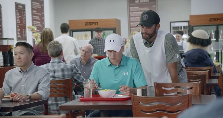 """That cheese looks a little saucy … I'd go with a spoon."" ESPN and Jordan Spieth officially knocked out of the park into the hole with their new ""This Is SportsCenter&…"