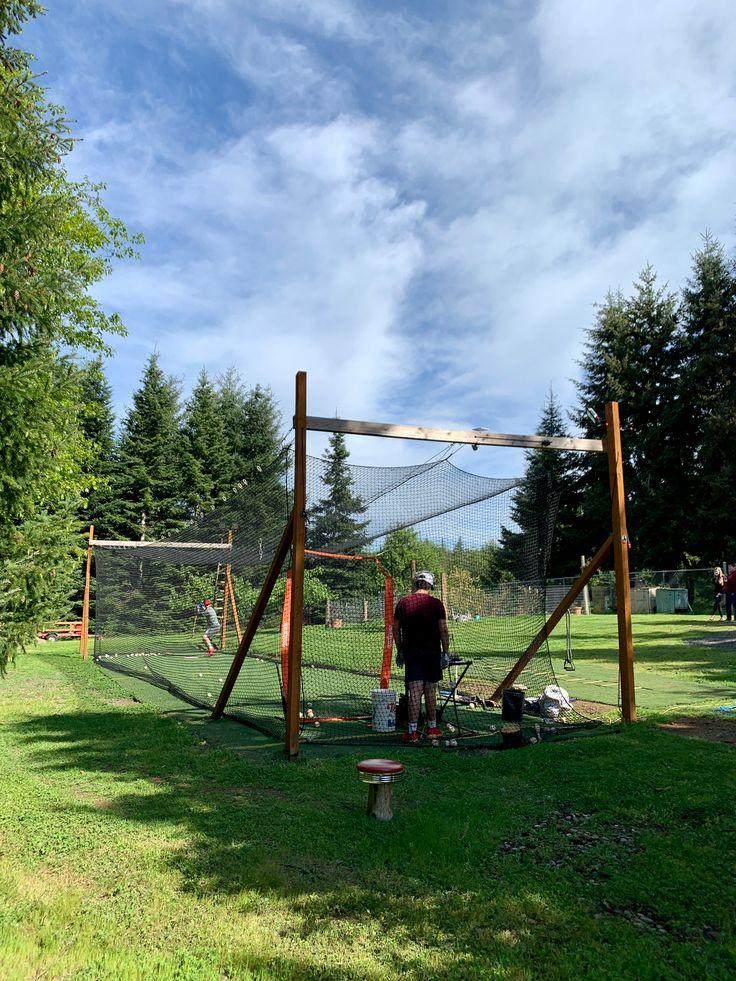 Diy batting cage in 2020 batting cage backyard batting