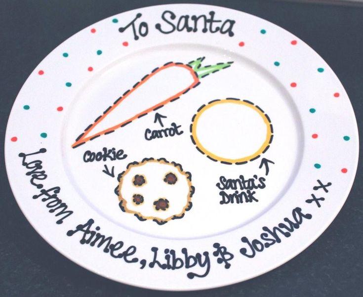 Santa plate - this is such a cute idea!                                                                                                                                                                                 More