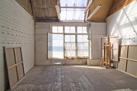 Porthmeor Studios in St Ives. What I wouldn't give to wake up to that view every morning...