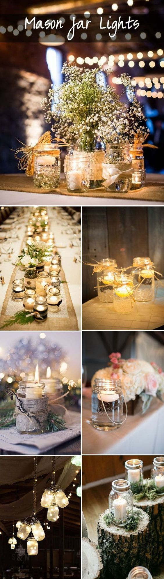 gorgeous DIY rustic mason jar lights ideas for weddings