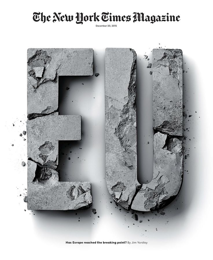 THE NEW YORK TIMES MAGAZINE • EU Cover on Behance