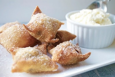 Deep Fried Chocolate Banana Wontons