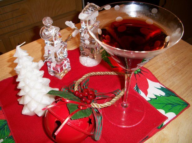 This is Oprahs original recipe for the pomegranate martini.  It is delicious!