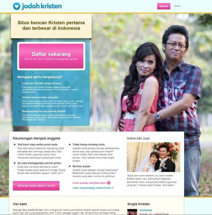 www.jodohkristen.com Dating site Kristen pertama dan terbesar di Indonesia  Jodoh Kristen: Temukan cinta dan persahabatan #jodohkristen #jodohkatolik #pasanganhidup