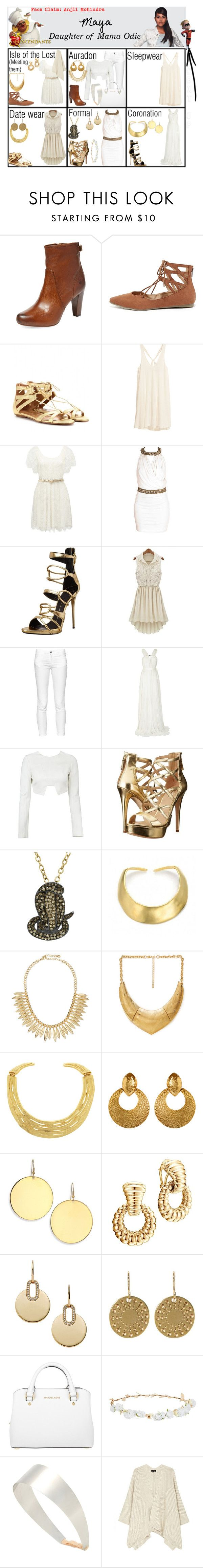 """Maya. Daughter of Mama Odie. Next up: Dash Parr"" by elmoakepoke ❤ liked on Polyvore featuring Frye, Liliana, Aquazzura, H&M, Forever New, Andrea, Giuseppe Zanotti, French Connection, Lanvin and GUESS"