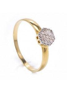 Anel Chuveirinho Ouro 18k com 20 Diamantes
