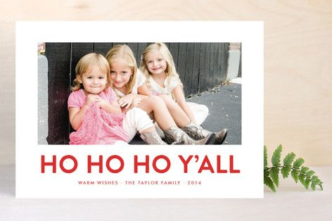 Southern Accent Christmas Photo Cards by toast & laurel at minted.com
