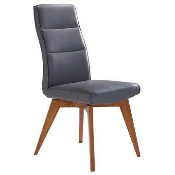 Avoca Sheeva PU Leather Dining Chair - Grey