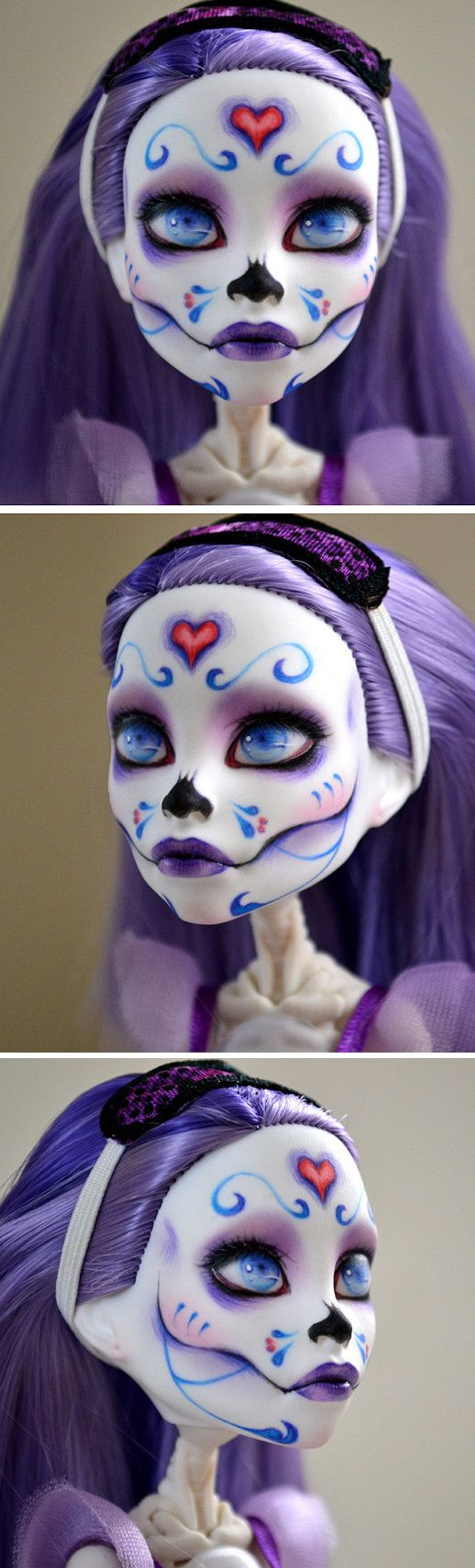 Custom Monster High Spectra on Skelita Body by BeautybyBotfly, $70.00