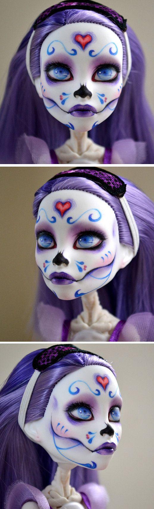 Custom Monster High Spectra on Skelita Body by BeautybyBotfly, $70.00