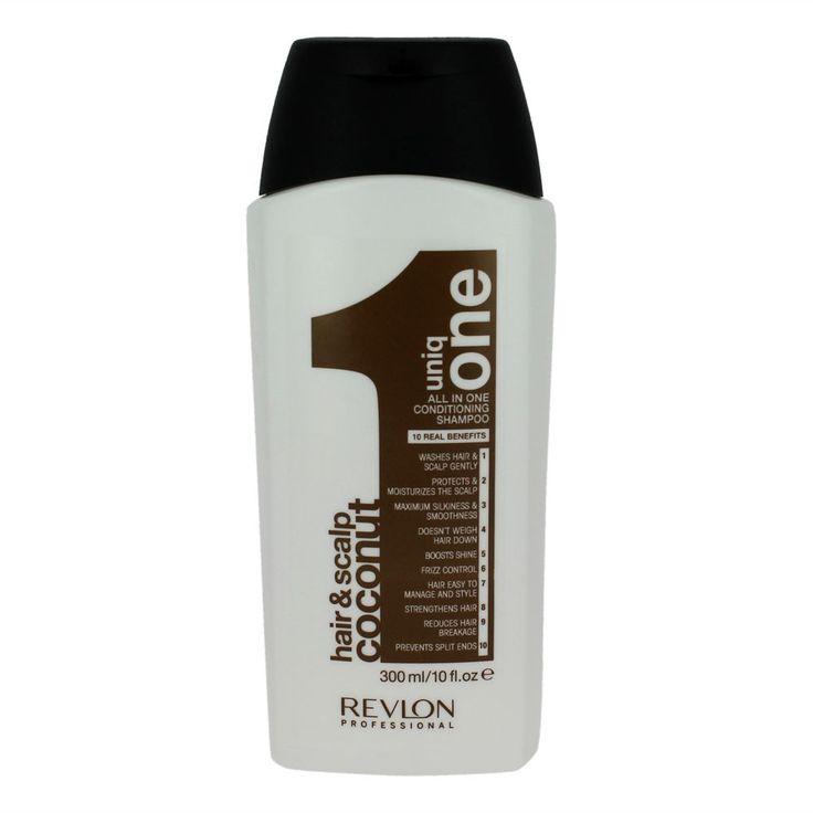Découvrez le shampoing/Après-shampoing 2 en 1 Coconut Uniq One de la marque Revlon, il est idéal pour les tous cheveux et procure un soin complet éclat et brillance, hydratation