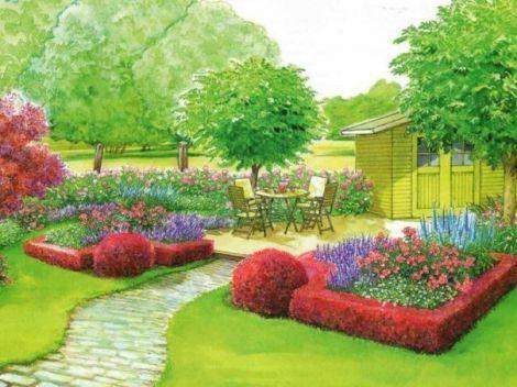 Схема для создания небольшого садика - Ландшафт - Обустройства участка