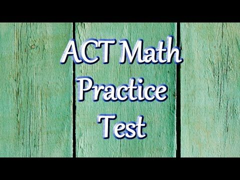 ACT Practice Test Questions - Prepare for the ACT Test. This is easy stuff but a good review.