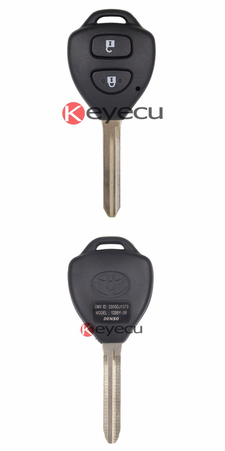 [Visit to Buy] Uncut Remote Key Fob 2 Button 433MHz 4D67 Chip for Toyota Hilux  (2005 - 2008) Fortuner (2005 - 2011) 4Runner (2003 - 2009) #Advertisement