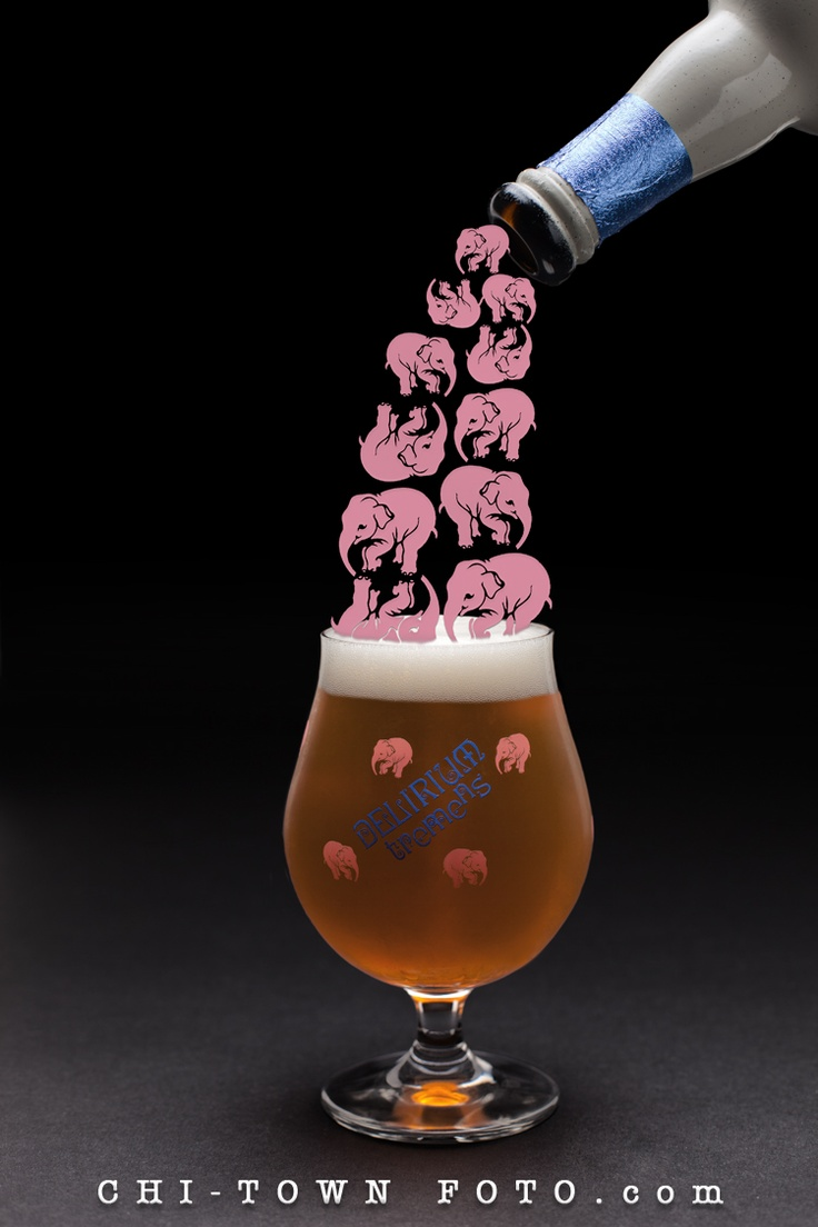 Delirium Tremens Beer, Commercial photography, Food