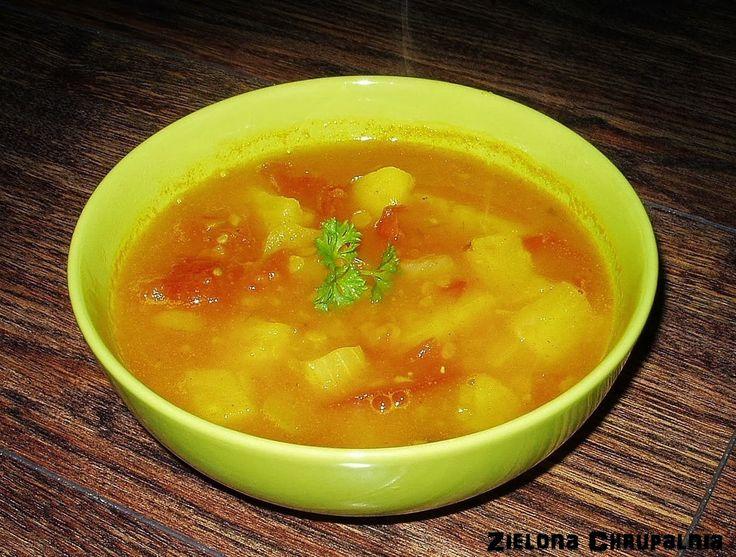 Zielona Chrupalnia : tajska zupa ananasowa