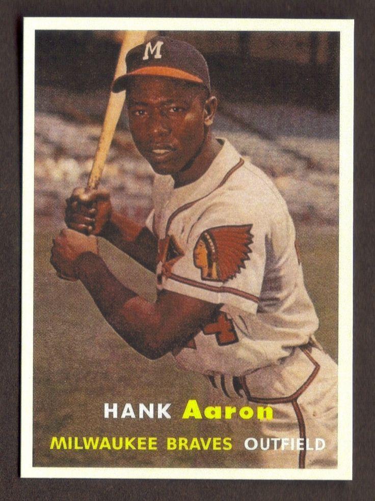 1957 topps hank aaron correct old baseball cards hank