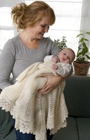 det royale svøb! nydelig babyteppe