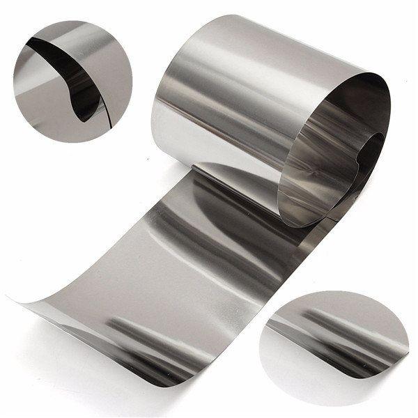 0 05mmx100mmx1m Stainless Steel Foil Sheet Foil Plate Sheet Metal Roller Metal Working Steel