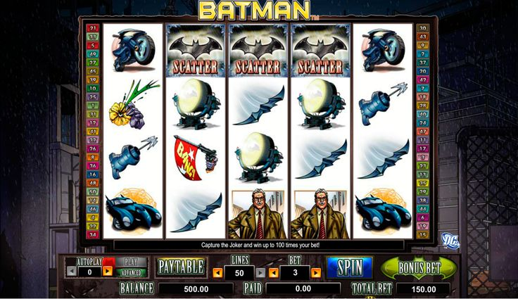 Magst Batman? Amya Gaming presäntiert einen online Batman Spielautomat! Sei ein Teil des Geschichte und werde ein Sieger im Batman Amaya Slot!