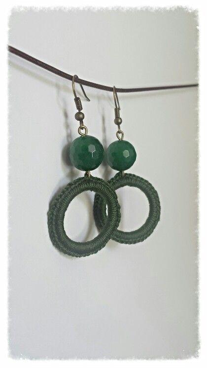 Crochet earring diy