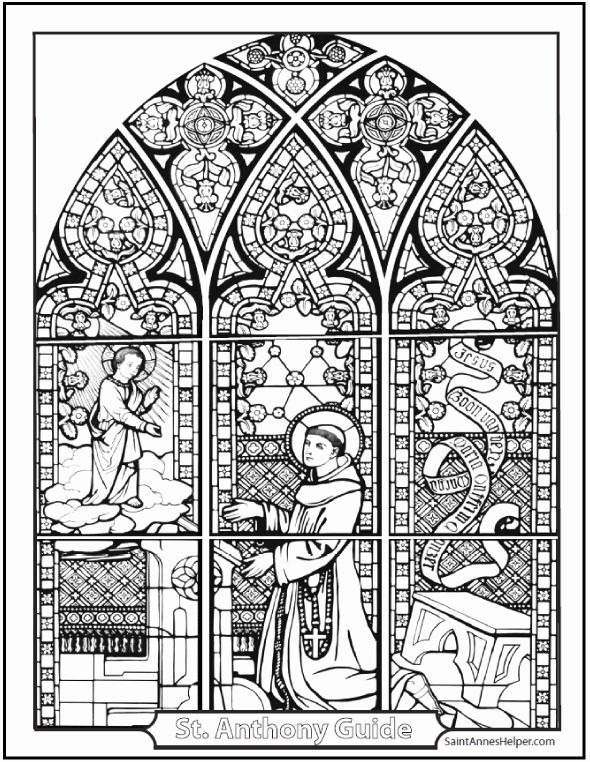 Stained Glass Coloring Book Fresh 21 Stained Glass Coloring Pages Church Window Printabl Catholic Christmas Coloring Catholic Coloring Christmas Coloring Pages