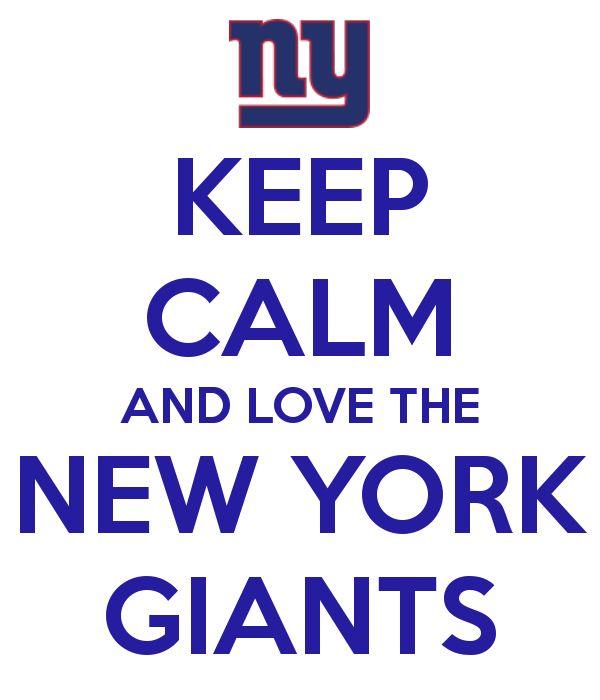 KEEP CALM AND LOVE THE NEW YORK GIANTS