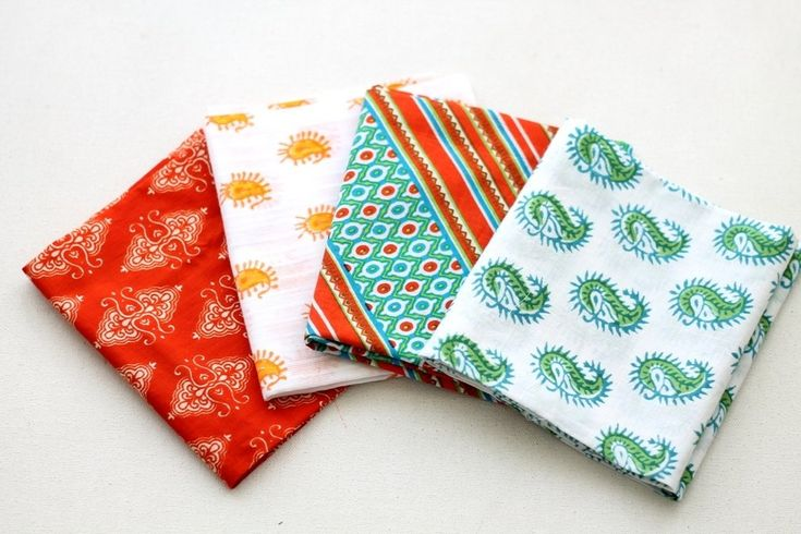 Orange green Fat Quarter Bundle ₹225.00 A collection of 4 cotton fabrics for quilting, patchwork, doll making, crafting accessories, jewelry making, etc.https://shop.chezvies.com/#!/Orange-green-Fat-Quarter-Bundle/p/102905248