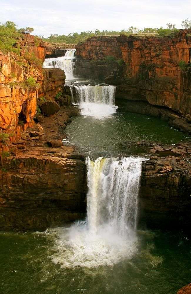 Mitchell Falls, Western Australia Everything in the Kimberley is on a larger scale, and Mitchell Falls is no exception. The sheer magnitude of the four-tiered waterfall thundering down from the Mitchell Plateau is a sight to behold. The energy of the place is simply unbelievable — Mother Nature at her finest!