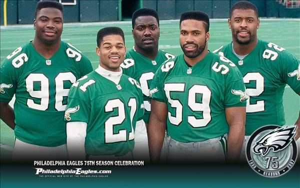 Clyde Simmons, Eric Allen, Jerome Brown, Seth Joyner, Reggie White.Jerome Brown, Seth Joyner, Reggie White, Eric Allen, Gang Green, Eagles Football, Clyde Simmons, The Originals, Philadelphia Eagles