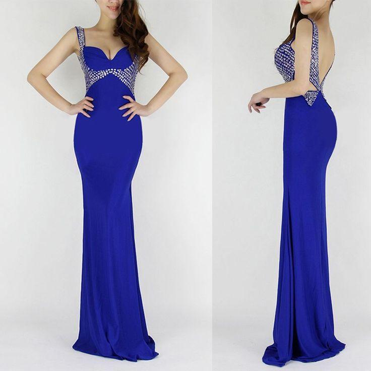 6 Colors Mermaid Evening Dresses Long Sequin Dinner Party Dresses