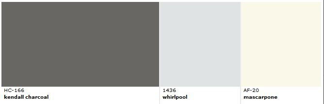 Benjamin Moore Kendall Charcoal And Coordinating Colors