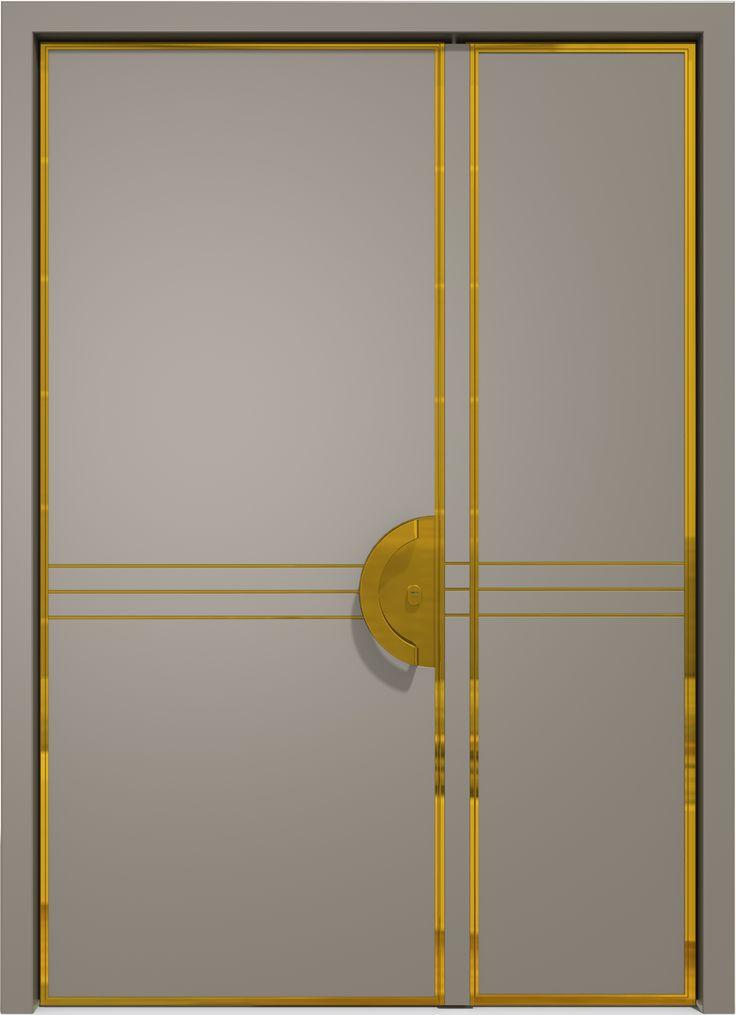 The two wings Art-deco door