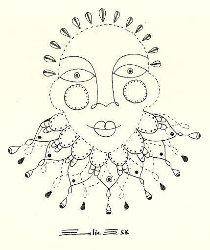 Inocente Dibujo en rapidografo Autoria: Emilia Escalante Ariza