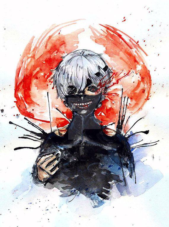 Traditional headshot commission Anime/ Manga/ by CosynestArt