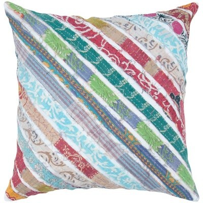 Rizzy 18 Inch Diagonal Kantha Decorative Pillow, found at TuesdayMorning.com @Tuesday Morning ...