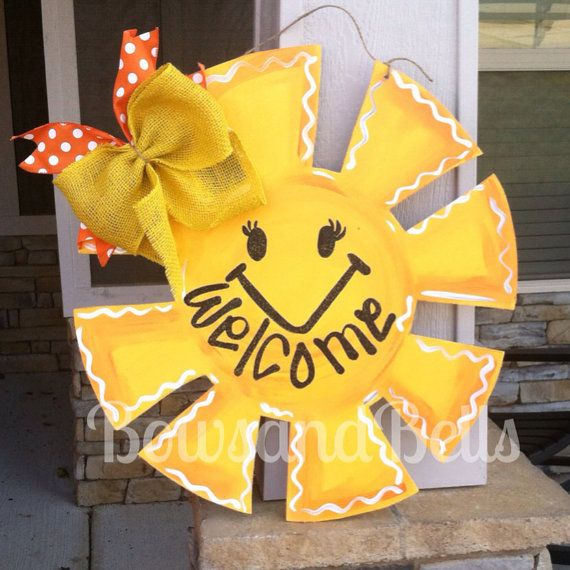 Sunshine Door Hanger, Summer door hanger, summer door decor , summer decoration