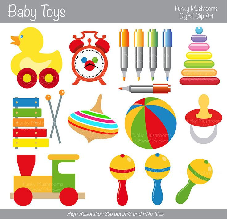 Baby Toys Clip Art : Digital clipart baby toys for scrapbooking by