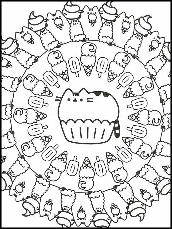Pusheen 11 Printable Coloring Pages For Kids Pusheen Coloring Pages Cute Coloring Pages Printable Coloring Book