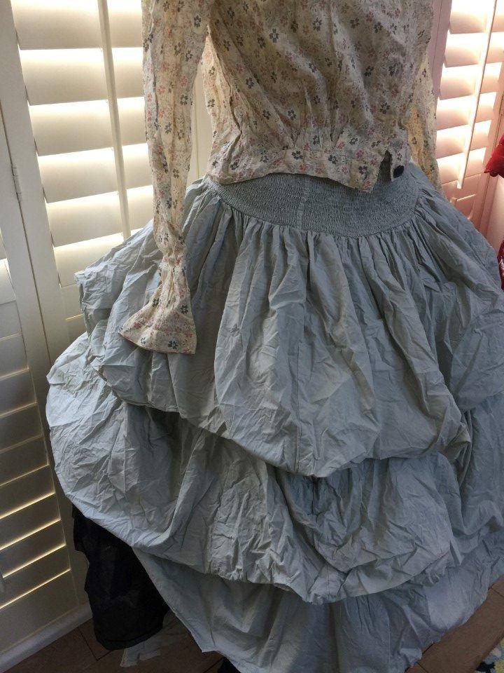 Puff Crisp Cotton Skirt in Black, Soft Mint or White – Berenice.me.uk