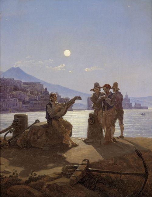 "nicolaradano:  ""Carl Gustav Carus (German, 1789 – 1869) Italian Fishermen, N/D Oil on canvas, 77 x 65 cm  """